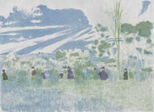 "Edouard Vuillard, ""Landscapes and Interiors: Across the Fields"", Archival Digital Print (16x20 inch mat)-0"