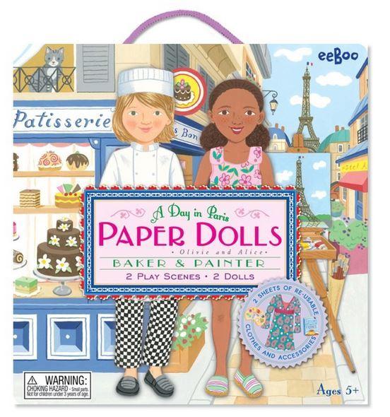 Baker & Painter Paper Dolls-0