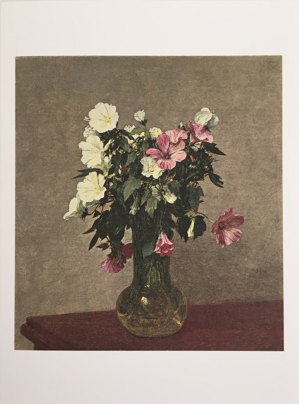 Fantin- Latour 'White and Pink Mallows in a Vase' Birthday Card-0