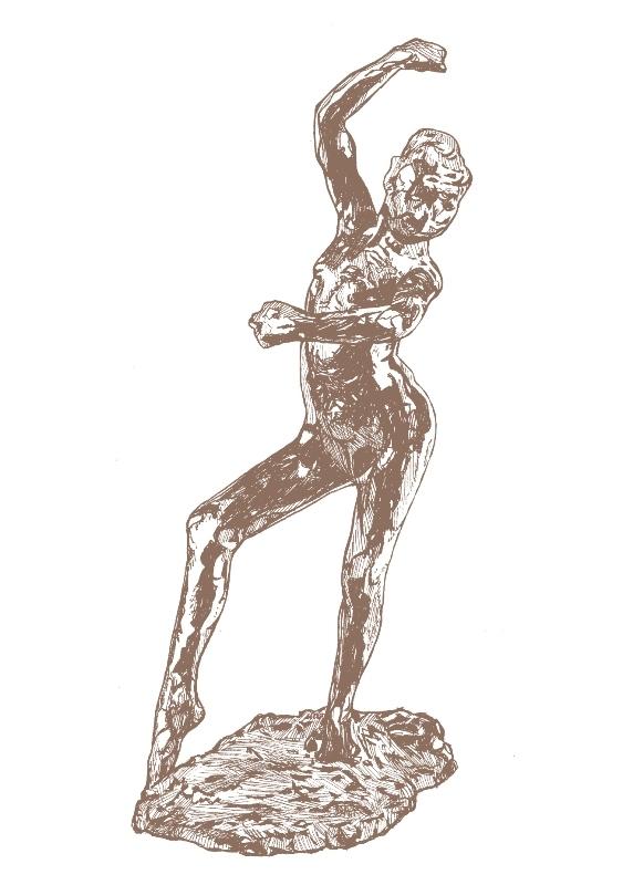 "Edgar Degas ""Spanish Dance"" Letterpress Notecard-0"
