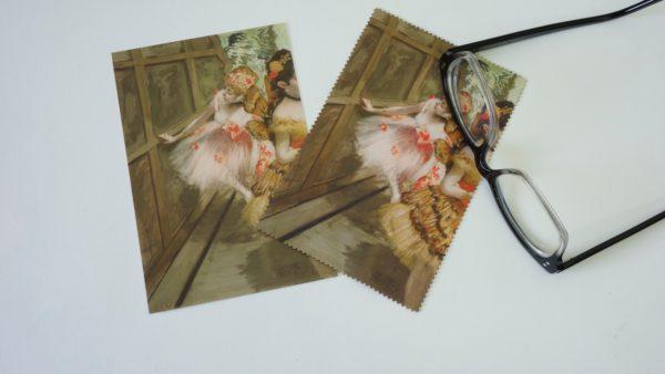 Microfiber Cloth and Postcard (Degas Dancers)-0