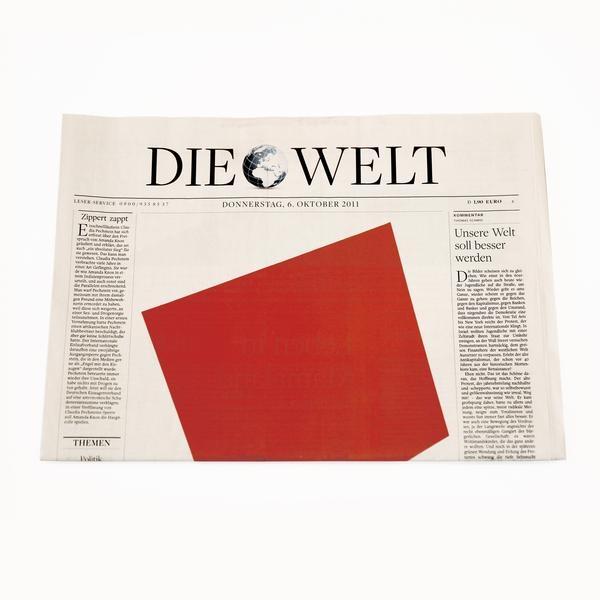 Die Welt German Newspaper: Ellsworth Kelly Artist's Commission-0