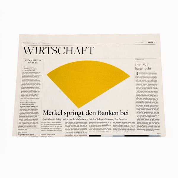 Die Welt German Newspaper: Ellsworth Kelly Artist's Commission-2355