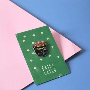 Frida Catlo Enamel Pin-0