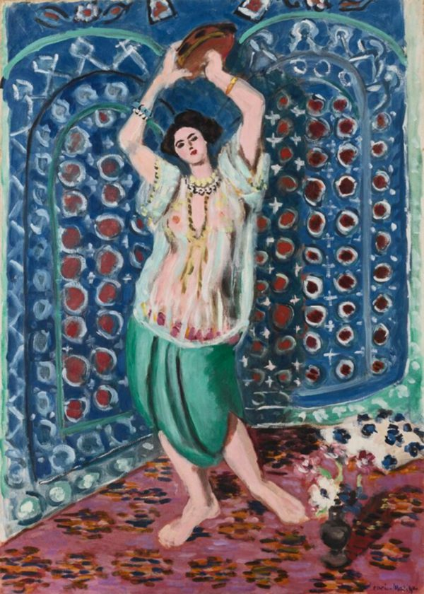 Matisse 'Odalisque with Tambourine (Harmony in Blue)' archival pigment print-0