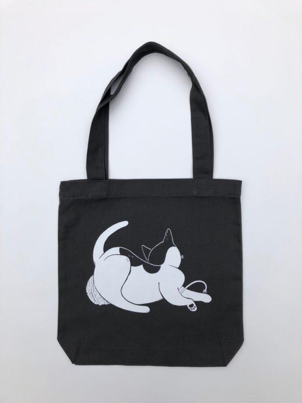 Wool Winder Cat Tote Bag-0